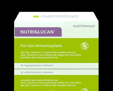 NUTRIGLUCAN® ist ein Nahrungsergänzungsmittel mit Zink, Vitamin C und Beta-Glucan für die gesunde Funktion des Immunsystems.