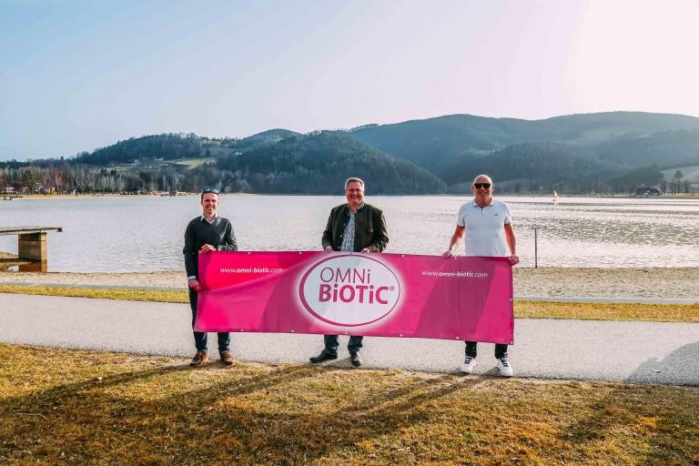 Das Institut AllergoSan präsentiert den OMNi-BiOTiC® ApfelLand-Triathlon 2021 am Stubenbergsee